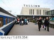 Купить «Таллин Вокзал», фото № 1619354, снято 14 сентября 2009 г. (c) Дмитрий Кожевников / Фотобанк Лори
