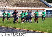 Открытая тренировка футболистов (2009 год). Редакционное фото, фотограф Юлия Жмачинская / Фотобанк Лори