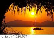 Купить «Тропическое побережье на закате», фото № 1626074, снято 15 декабря 2018 г. (c) Дмитрий Эрслер / Фотобанк Лори