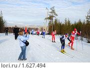 Купить «Чемпионат России по лыжным гонкам среди мужчин», фото № 1627494, снято 11 апреля 2010 г. (c) Валерий Александрович / Фотобанк Лори