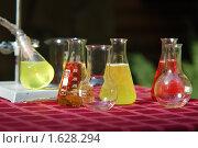 Купить «Колбы с жидкостями», фото № 1628294, снято 18 июля 2009 г. (c) Станислав Самойлик / Фотобанк Лори