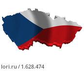 Купить «Чехия карта страна флаг», иллюстрация № 1628474 (c) Савельев Андрей / Фотобанк Лори