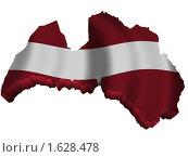 Купить «Латвия: карта страна флаг», иллюстрация № 1628478 (c) Савельев Андрей / Фотобанк Лори