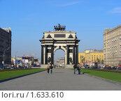 Триумфальная арка в Москве, эксклюзивное фото № 1633610, снято 1 мая 2009 г. (c) lana1501 / Фотобанк Лори