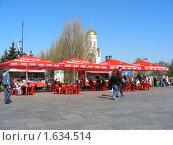 Купить «Уличное кафе   в Парке Победы. Москва», эксклюзивное фото № 1634514, снято 1 мая 2009 г. (c) lana1501 / Фотобанк Лори