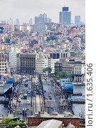 Купить «Мост Галата и район Бейоглы в Стамбуле, Турция», фото № 1635406, снято 3 мая 2008 г. (c) Михаил Марковский / Фотобанк Лори