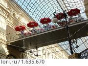 Купить «Кафе в ГУМе», фото № 1635670, снято 11 июня 2007 г. (c) Николай Богоявленский / Фотобанк Лори