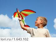 Мальчик с воздушным змеем. Стоковое фото, фотограф Losevsky Pavel / Фотобанк Лори