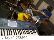 Купить «Микрофон и синтезатор в звукозаписывающей студии», фото № 1643614, снято 26 октября 2009 г. (c) Losevsky Pavel / Фотобанк Лори