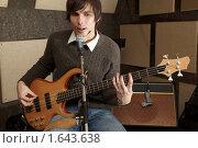 Купить «Гитарист поет песню», фото № 1643638, снято 26 октября 2009 г. (c) Losevsky Pavel / Фотобанк Лори