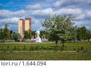 Купить «Парк с памятником», фото № 1644094, снято 1 июня 2008 г. (c) Александр Рябов / Фотобанк Лори
