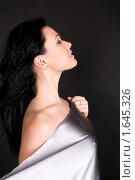 Купить «Девушка с серебристым шелком», фото № 1645326, снято 3 марта 2010 г. (c) Okssi / Фотобанк Лори