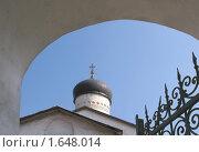 Купол храма Козьмы и Дамиана с Примостья в Пскове (2010 год). Стоковое фото, фотограф Валентина Троль / Фотобанк Лори