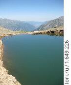 Горное озеро. Стоковое фото, фотограф Артём Горин / Фотобанк Лори