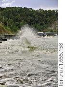 Купить «Шторм на Черном море», фото № 1655158, снято 9 сентября 2009 г. (c) Владимир Сергеев / Фотобанк Лори
