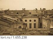 Купить «Крыши Петербурга», фото № 1655238, снято 8 апреля 2010 г. (c) Дмитрий Краснов / Фотобанк Лори