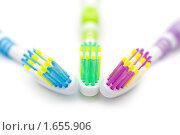 Купить «Зубные щетки», фото № 1655906, снято 22 апреля 2010 г. (c) Александр Подшивалов / Фотобанк Лори