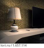 Настольная лампа. Стоковая иллюстрация, иллюстратор Николайчук Антон / Фотобанк Лори