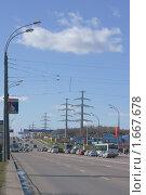 Купить «Пятницкое шоссе. Митино. Москва», эксклюзивное фото № 1667678, снято 27 апреля 2010 г. (c) Валерия Попова / Фотобанк Лори