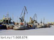 Порт зимой (2010 год). Редакционное фото, фотограф Верстуков Виктор / Фотобанк Лори