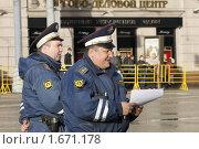 Купить «Милиция на Тверской улице», фото № 1671178, снято 29 апреля 2010 г. (c) Яременко Екатерина / Фотобанк Лори