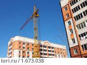 Строительство кирпичных домов. Стоковое фото, фотограф Николай Венедиктов / Фотобанк Лори