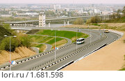 Купить «Новая автодорога к новому мосту через реку Оку в Нижнем Новгороде», фото № 1681598, снято 3 мая 2010 г. (c) Татьяна Федулова / Фотобанк Лори
