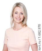 Купить «Портрет блондинки на белом фоне», фото № 1682970, снято 18 апреля 2010 г. (c) Валуа Виталий / Фотобанк Лори