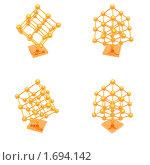 Купить «Золотые молекулы, изолированные на белом фоне», иллюстрация № 1694142 (c) Alperium / Фотобанк Лори