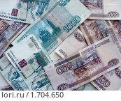 Российские деньги. Стоковое фото, фотограф Гузынин Тимофей / Фотобанк Лори