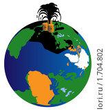 Разлив нефти в Мексиканском заливе. Стоковая иллюстрация, иллюстратор Алексей Судариков / Фотобанк Лори