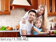 Купить «Семья на кухне», фото № 1706462, снято 3 апреля 2010 г. (c) Raev Denis / Фотобанк Лори