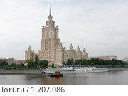 Купить «Обновленная гостиница Украина на берегу реки Москва», фото № 1707086, снято 16 мая 2010 г. (c) nikshor / Фотобанк Лори