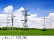 Купить «Линии электропередачи - ЛЭП», фото № 1709390, снято 10 мая 2010 г. (c) Vitas / Фотобанк Лори