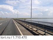 Проезд через Волгу по новому мосту в Саратове (2010 год). Стоковое фото, фотограф Андрей Кириллов / Фотобанк Лори
