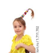 Девочка с хвостиком. Стоковое фото, фотограф Олег Юрмашев / Фотобанк Лори