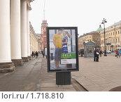 Купить «Реклама в Петербурге», эксклюзивное фото № 1718810, снято 4 мая 2010 г. (c) Ирина Борсученко / Фотобанк Лори
