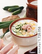 Купить «Мясная окрошка на кефире», фото № 1728058, снято 10 мая 2010 г. (c) Лисовская Наталья / Фотобанк Лори