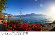 Панорама Женевского озера. Город Монтрё. Стоковое фото, фотограф chaoss / Фотобанк Лори