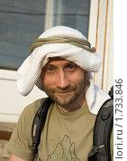 Купить «Человек в самодельной куфие», фото № 1733846, снято 22 мая 2010 г. (c) Лидия Ракчеева / Фотобанк Лори