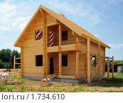 Строительство загородного дома. Стоковое фото, фотограф Миняева Ольга / Фотобанк Лори