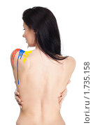 Купить «Сексуальная женщина в краске», фото № 1735158, снято 3 апреля 2010 г. (c) Сергей Новиков / Фотобанк Лори