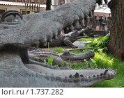 Крокодилы. Ракурс. Фрагмент экспозиции З.Церетели. (2010 год). Редакционное фото, фотограф Ольга Крупская / Фотобанк Лори