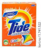 Купить «Пачка стирального порошка Tide absolute», фото № 1741522, снято 24 мая 2010 г. (c) Андрей Андреев / Фотобанк Лори