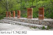 Купить «Средневековый армянский монастырь Сурб-Хач (Крым), хачкар», фото № 1742902, снято 7 мая 2010 г. (c) Parmenov Pavel / Фотобанк Лори