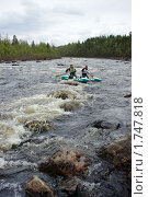 Рафтинг по северной реке (2010 год). Редакционное фото, фотограф Денис Гоппен / Фотобанк Лори