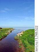 Река, впадающая в море. Стоковое фото, фотограф Струкова Светлана / Фотобанк Лори