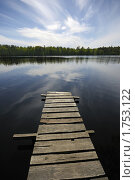 Дощатый настил над озером. Стоковое фото, фотограф Ильин Роман / Фотобанк Лори