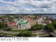 Купить «Выборг. Панорама центра города», фото № 1757970, снято 4 июня 2010 г. (c) Вячеслав Беляев / Фотобанк Лори