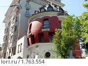Купить «Дом-яйцо, улица Машкова. Москва», фото № 1763554, снято 6 июня 2010 г. (c) Екатерина Овсянникова / Фотобанк Лори